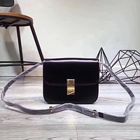 CELINE WOMEN'S LEATHER CLASSIC BOX INCLINED SHOULDER BAG