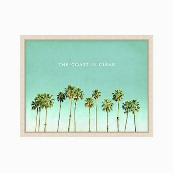 the coast is clear print