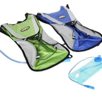 2 LITRE HYDRATION PACK/BACKPACK BAG RUNNING/CYCLING WITH WATER BLADDER & STRAW