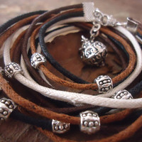 SPACER and MAGIC BALL Wrap Bracelet in earth tones