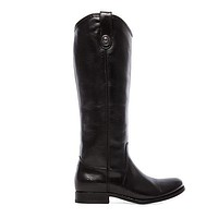 Frye Boot Melissa Button - Black Tall Riding Boot