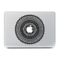 """iCasso Pattern Removable Vinyl Decal Sticker Skin for Apple Macbook Pro Air Mac 13"""" inch / Unibody 13 Inch Laptop-Black#1"""