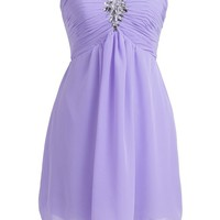Fashion Plaza Strapless Bridesmaid Formal Evening Cocktail Party Dress D0143 (US8, Mint)