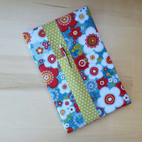 Red and White Daisies with Green Flower Print Stenopad Cover