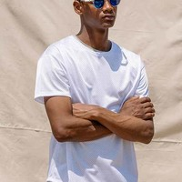 Feathers Poly Mesh Box-Fit Tee-