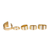 Thick Band Multi Ring Set - Gold