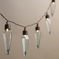 Clear Prism Solar LED 20 Bulb String Lights