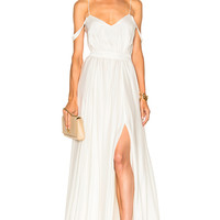 Houghton Morgan V Neck Empire Gown in Ivory   FWRD