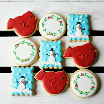 Winterscape Mini Set:  1 Dozen Sugar Cookies Wrapped in Sets of 3