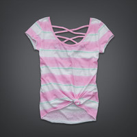 Striped Cross-Back Tee