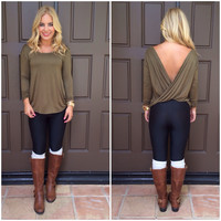 With a Twist Top - OLIVE