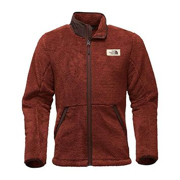 Men's Campshire Full Zip Sherpa Fleece in Brandy Brown by The North Face
