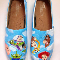 Toy Story  inspired custom painted TOMS