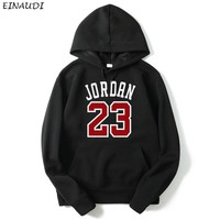 Hot Sale Women Spring Autumn Jordan 23 Printed Hoddies Outwear Warm Women Fashion Casual Sweatshirts 23 Trend Female Pullover T
