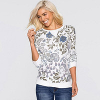 Floral Print  Sweater Shirt B0014050