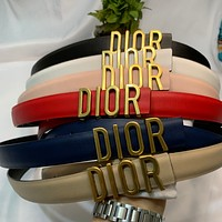 DIOR Fashion Letter Buckle Leather Leisure Belt