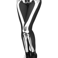 Skeleton Scan Print Leggings