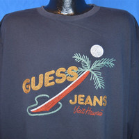 90s Guess Jeans Visit Hawaii Chain Stitch Sweatshirt Extra-Large