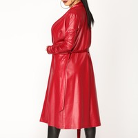 Ready For Anything Coated Jacket - Red