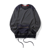 Men's Fashion Autumn Patchwork With Pocket Pullover Knit Hoodies [7929369155]