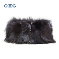 The new fashion trend fur bag fox fur shoulder bag explosion models Europe and the United States style women fur bags