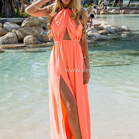 ISLA TWIST HALTER MAXI DRESS , DRESSES, TOPS, BOTTOMS, JACKETS & JUMPERS, ACCESSORIES, $10 SPRING SALE, PRE ORDER, NEW ARRIVALS, PLAYSUIT, GIFT VOUCHER, $30 AND UNDER SALE,,MAXIS Australia, Queensland, Brisbane