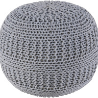 "Contemporary Gray Pouf (14""x20"")"