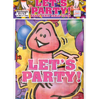 """Let's Party! Table Cloth  6' X 4'.3"""""""