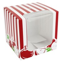 Red Stripe Candy Apple Box