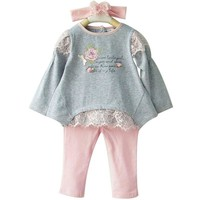 Baby Girls Cotton Floral Clothing Set Newborn Bebe Wear T-shirt+Leggings Infant Pajamas Baby Casual Clothes