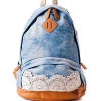 Valley Mills Denim & Lace Backpack