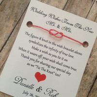 100 Wedding Favors - Wishes From The New Mr. & Mrs.- Wedding Favor- Modern Wedding Favors