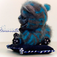 Needle felted doll Cheshire cat