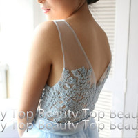 Lace Bridesmaid Dress Lace Tulle Wedding Dress Lace Prom dress Graduation dress  Prom Ball Gown