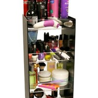 """Cosmetic Organizer Tower 24"""" Tall. Has 4, 10"""" Wide Crystal Clear Acrylic Shelves. Giving You 40"""" of Storage. A Makeup Diva or Salon's Dream Come True! Great for Home Use or Salon Professionals. Proudly Made in the USA ! by PPM."""