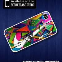 Nike just do it with aztec pattern - iPhone 4/4s Case , iPhone 5/5s/5c case , Samsung S2/3/4 case , Nike aztec iphone case
