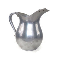 Mid Century Aluminum Pitcher-Wear Ever-Ice Lip-Water Pitcher-Kool Aid-Flower Vase-Planter
