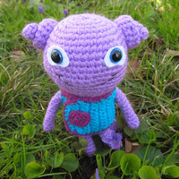 """Crochet Toy from Movie """"Home"""", Crochet Toy Oh, Cut Amigurumi, Violet Oh"""
