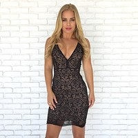Mirage Lace Bodycon Dress