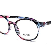 Gucci GG   Pink/Grey Havana Plastic Fashion Eyeglasses