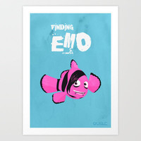 Coupling up (accouplés) Finding Emo Art Print by quibe
