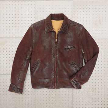 Levi's® Vintage Clothing | 1940s Reversible Leather Jacket