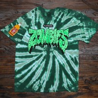 FLATBUSH ZOMBIES - TYE DYE T-SHIRT - GREEN - NYC RAP - MERCH – The Glorious Dead