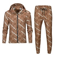 GG men's and women's autumn and winter jacket suit two-piece