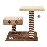 Cat Furniture Scratching Post Cat Jumping Funny Toy Wood Product Mouse Playing Frame For Cat Kitten Cat Tree High Quality