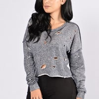 Inside And Out Sweater - Navy