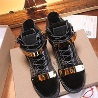 Giuseppe Zanotti GZ Men Fashion Boots  fashionable casual leather  Breathable Sneakers Running Shoes Sneakers
