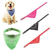 Adjustable Collar for Small Large Dog, Scarf Tie