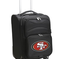 San Francisco 49ers Luggage Carry-On 21in Spinner Softside Nylon-BLACK