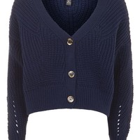 Cropped Fisherman Cardigan - Sweaters & Knits - Clothing
